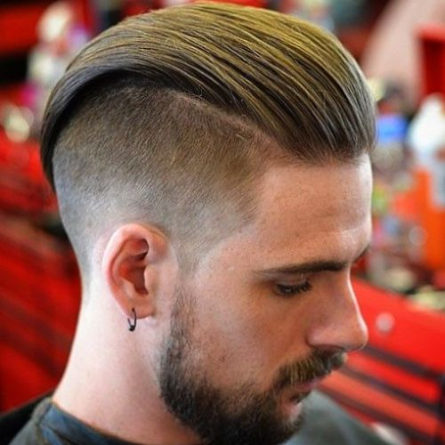 Slick Back with Undercut European hairstyle