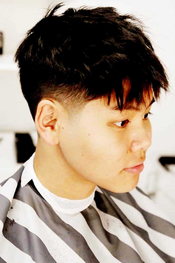 Textured short Asian hairstyle
