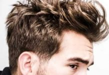Classic cut brushed back hair style