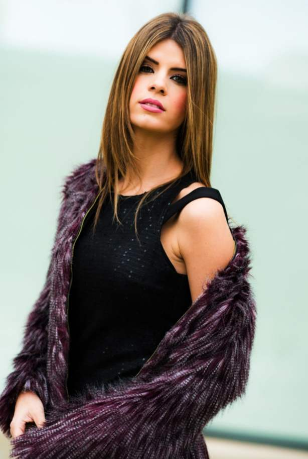 Little Black Dress with Fur Coat