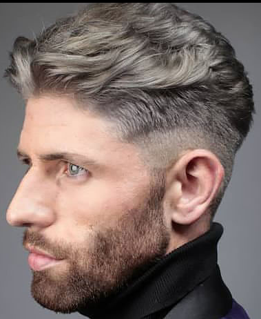 Mid fade with natural waves.