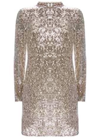 Mini Silver Sequin Dress one