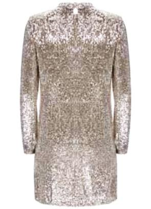 Mini Silver Sequin Dress two