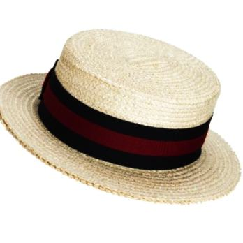 Scala Straw Braid Boater Hat for Men