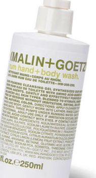 best body washes-malin+ Goetz rum hand+ body wash