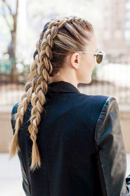 Double French Braid for girls