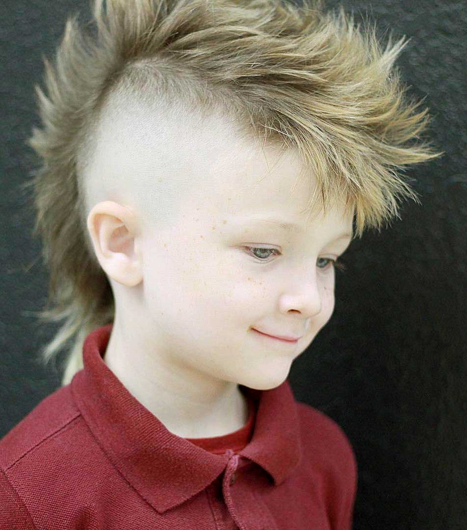 Layered Mo-Hawk for younger boys