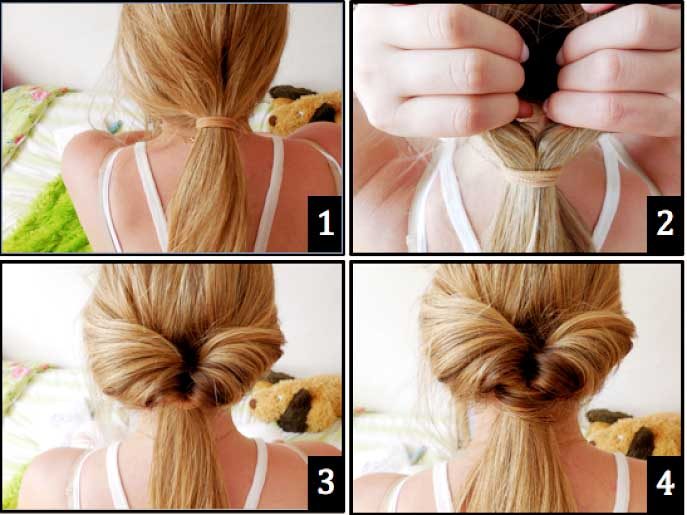 Twist Wrap Ponytail for girls