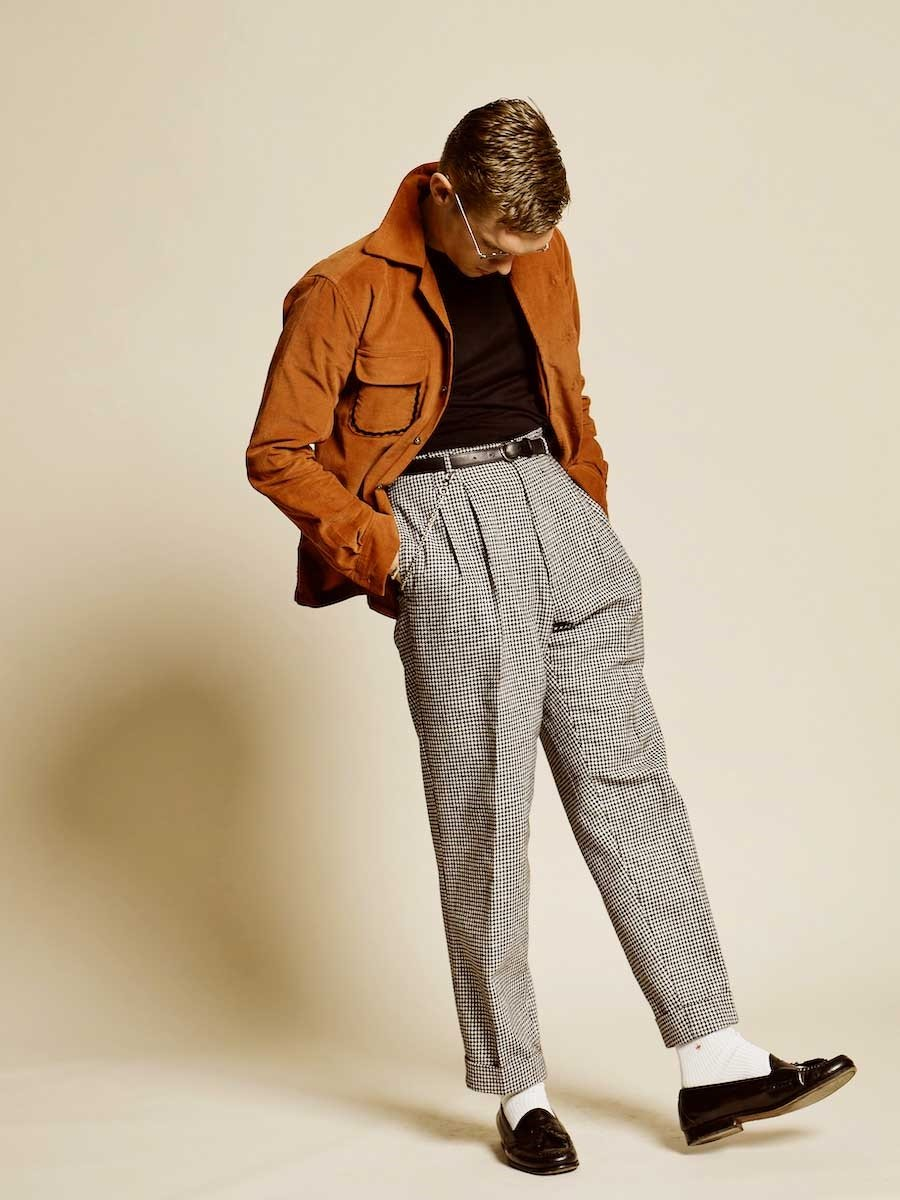 High wasted trousers for men
